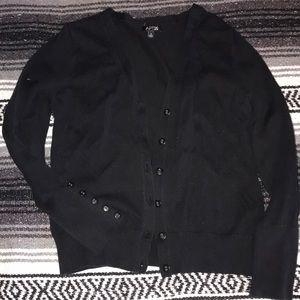 Black button-up cardigan
